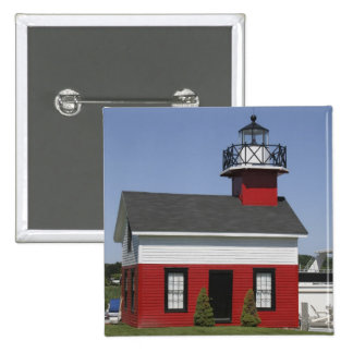 Lighthouse relocated shore in Douglas near 15 Cm Square Badge