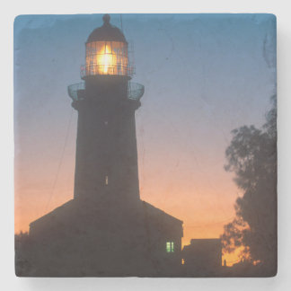 Lighthouse, Robben Island, Cape Town 2 Stone Coaster