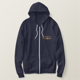 Lighthouse & Sailboat Embroidered Hoodie