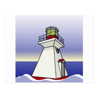 Lighthouse Sea Scene Postcard
