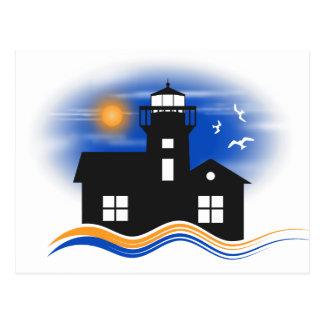 Lighthouse Seascape Postcard Post Cards