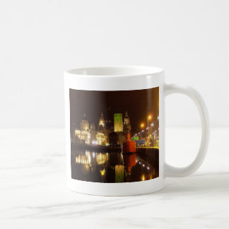 Lighthouse Ship & Liver Buildings, Liverpool UK Coffee Mug
