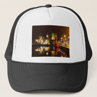 Lighthouse Ship & Liver Buildings, Liverpool UK Trucker Hat