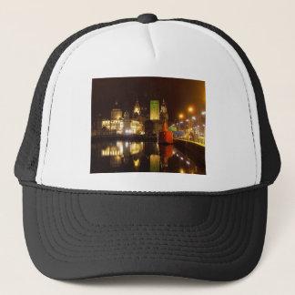 Lighthouse Ship & Liver Buildings, Liverpool UK Trucker Hat