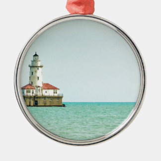 lighthouse Silver-Colored round decoration