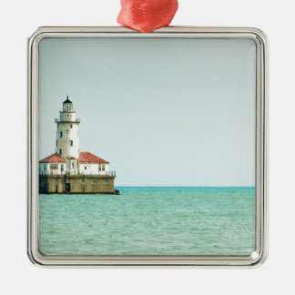 lighthouse Silver-Colored square decoration