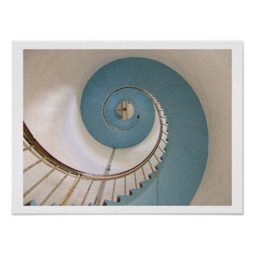 Lighthouse Spiral Staircase Poster