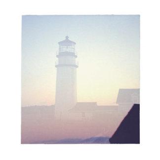 Lighthouse, sticky notepad reminder