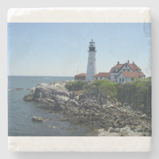 lighthouse stone coaster