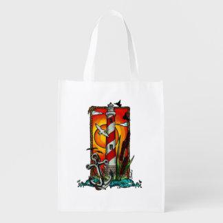 Lighthouse Style Reusable Grocery Bag