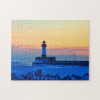 Lighthouse Sunrise Puzzle