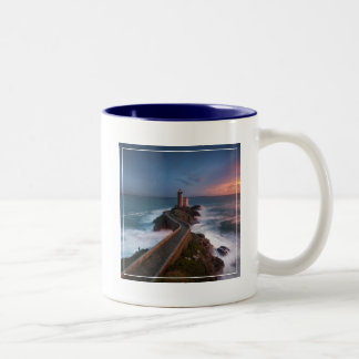 Lighthouse Sunset Plouzané | Finistère, Brittany Two-Tone Coffee Mug