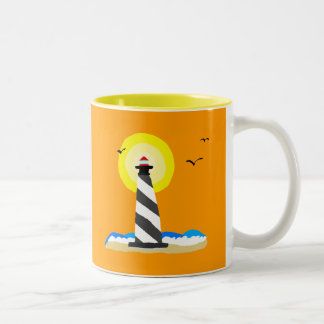 Lighthouse Two-Tone Coffee Mug
