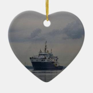 Lighthouse Vessel Galatea Ceramic Heart Decoration