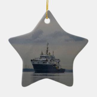 Lighthouse Vessel Galatea Ceramic Star Decoration