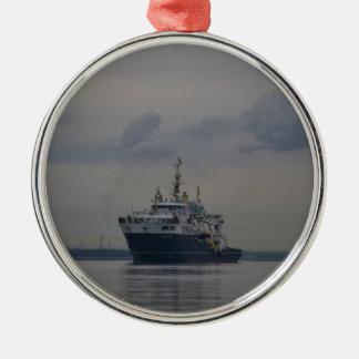 Lighthouse Vessel Galatea Christmas Ornament