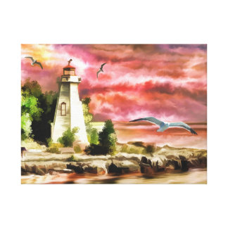 Lighthouse Watercolour Print