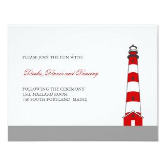 Lighthouse Wedding Reception Card