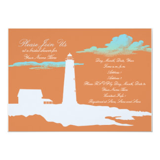 Lighthouse wedding/shower invitation