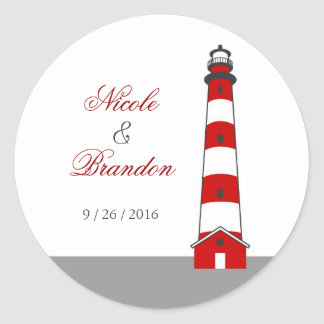 Lighthouse Wedding Sticker