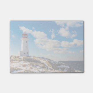 Lighthouse | Winter In Peggy'S Cove, Nova Scotia Post-it Notes