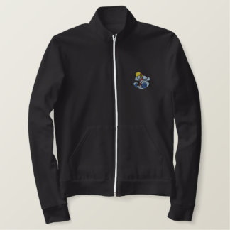 Lighthouse with Waves Embroidered Jacket