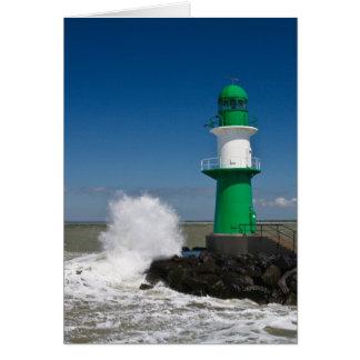 Lighthouses in Warnemuende Card