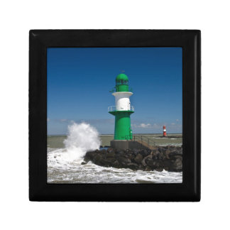Lighthouses in Warnemuende Small Square Gift Box