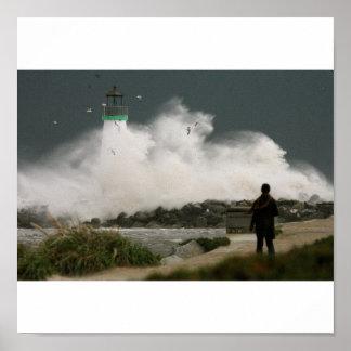 LighthouseWavelarge Poster