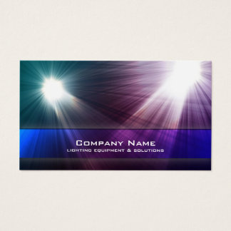 Lighting Equipment & Solutions Business Card