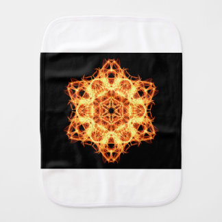 Lighting mandala burp cloth