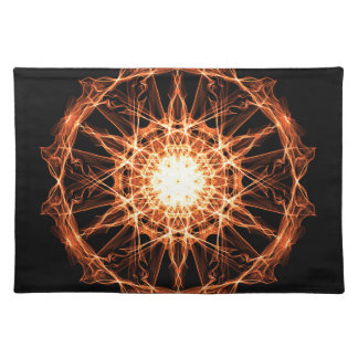 Lighting mandala placemat