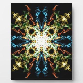 Lighting mandala plaque