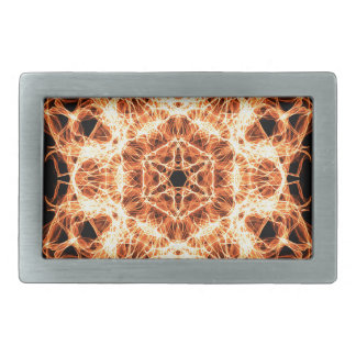Lighting mandala rectangular belt buckles