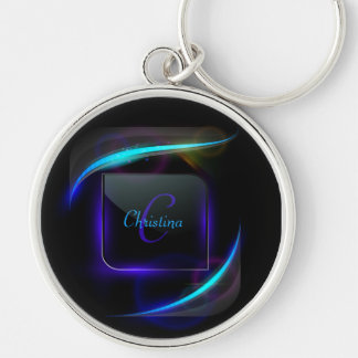 Lighting Monogram Full Name Keychain