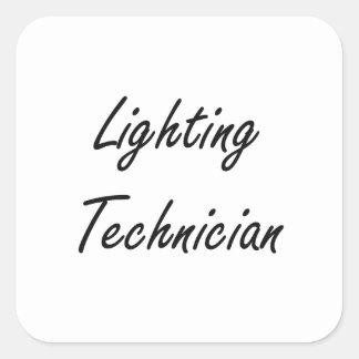 Lighting Technician Artistic Job Design Square Sticker