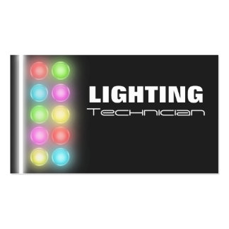 Lighting Technician Business Cards