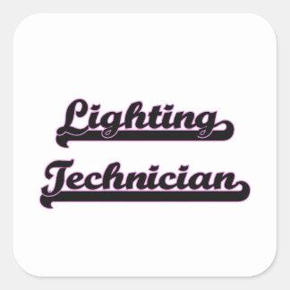 Lighting Technician Classic Job Design Square Sticker