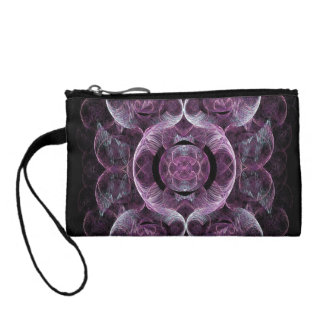 Lightly Swirling Purples and Blues Change Purses