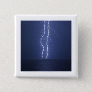 Lightning 15 Cm Square Badge