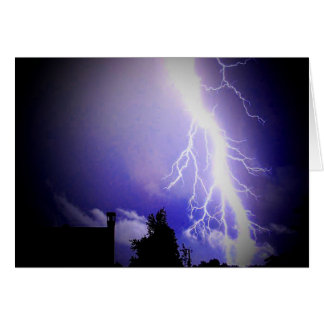 Lightning Among a Dark Sky Card