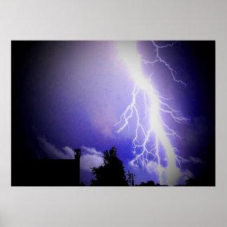 Lightning Among a Dark Sky Poster