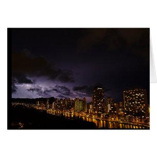 Lightning at Diamond Head Honolulu, HI Card