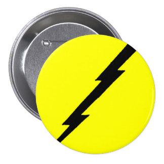 Lightning Bolt 7.5 Cm Round Badge