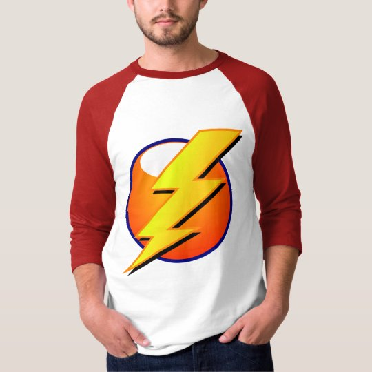 Lightning Bolt Basic 3/4 Sleeve Raglan T-Shirt