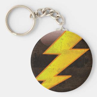 Lightning Bolt Basic Round Button Key Ring