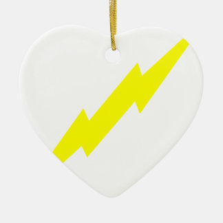 Lightning Bolt Ceramic Heart Decoration