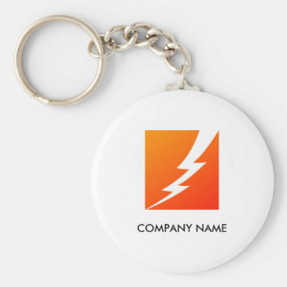 Lightning Bolt Customizable Keychain