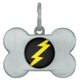 Lightning Bolt Dog Tag
