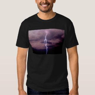 Lightning bolt during thunderstorm t-shirts